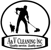 Logo, A&V Cleaning Inc. - Commercial Cleaning